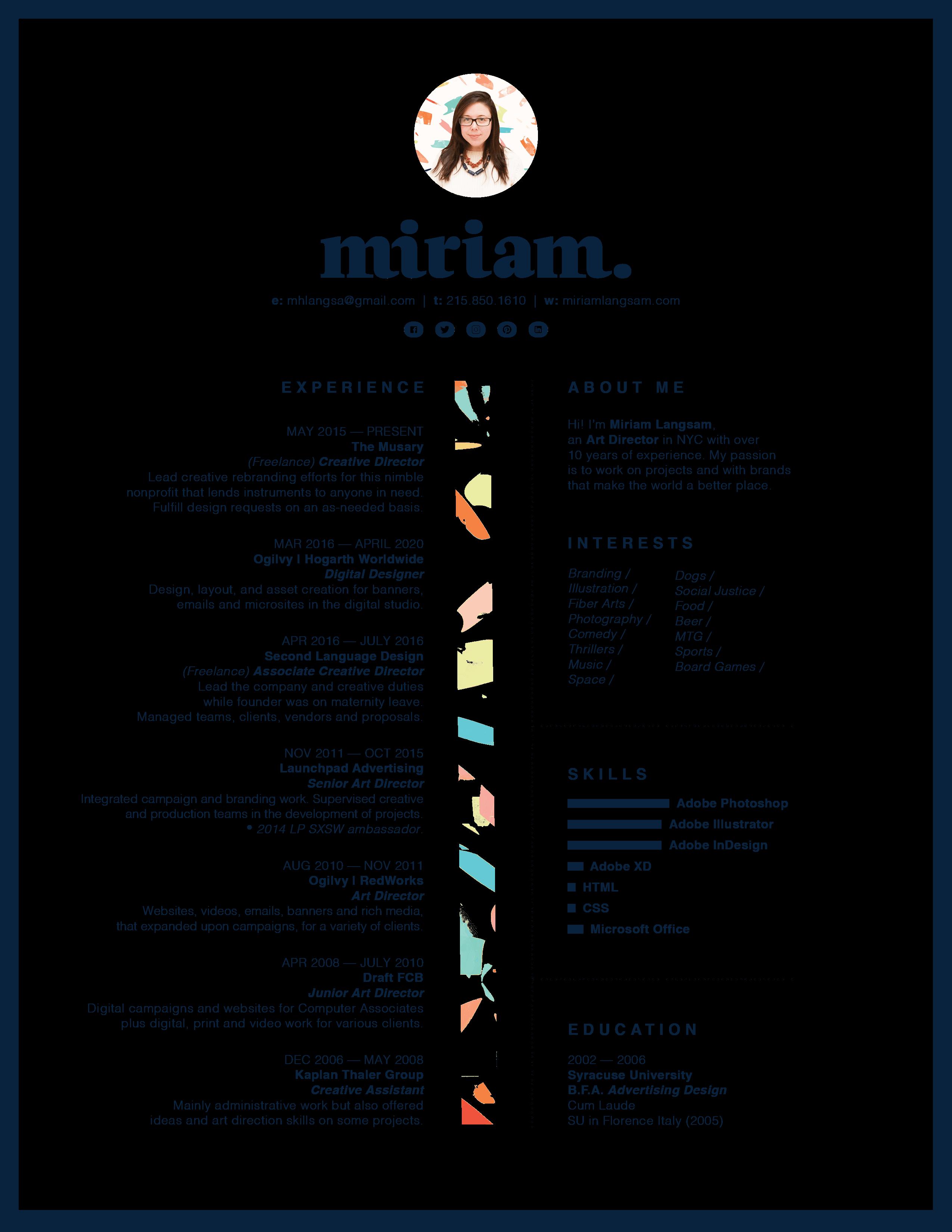 Miriam's Resume